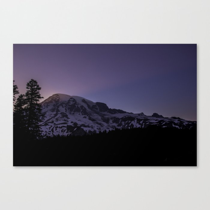 Pink Sunset - Mount Rainier  Canvas Print