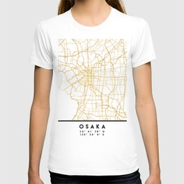 OSAKA JAPAN CITY STREET MAP ART T-shirt
