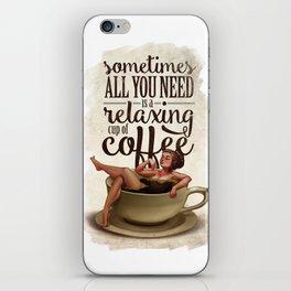 Coffee Lady iPhone Skin