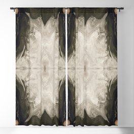 Hollow Earth Fractal Blackout Curtain