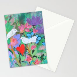 Chaucer's Love Birds Stationery Cards