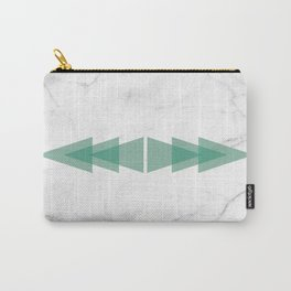 Marble Scandinavian Design Geometric Triangle Carry-All Pouch