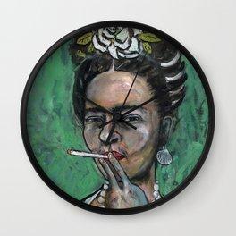 Peg Leg (Frida Kahlo, oil on canvas) Wall Clock