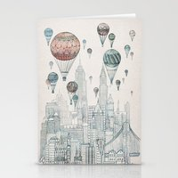edinburgh Stationery Cards featuring Voyages Over New York by David Fleck