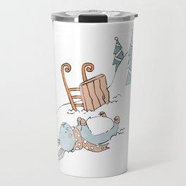 Bunny Sledding Travel Mug
