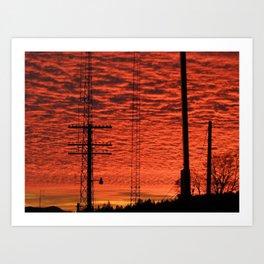 Neon Sunset Art Print