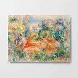 Pierre-Auguste Renoir - Two Women in a Landscape Metal Print