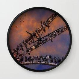 Pigeon Gangs Wall Clock