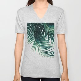 Palm Leaves Green Vibes #4 #tropical #decor #art #society6 Unisex V-Neck