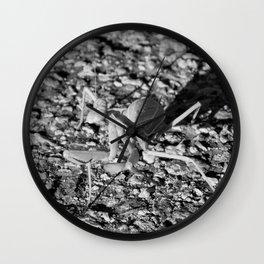 Monochrome Praying Mantis Wall Clock
