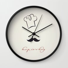 keep cooking Wall Clock