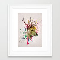 deer Framed Art Prints featuring deer by mark ashkenazi