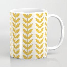 Scandinavian Mid Century Pattern Yellow Coffee Mug