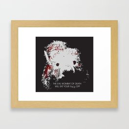 Evil Wombat of Death Framed Art Print