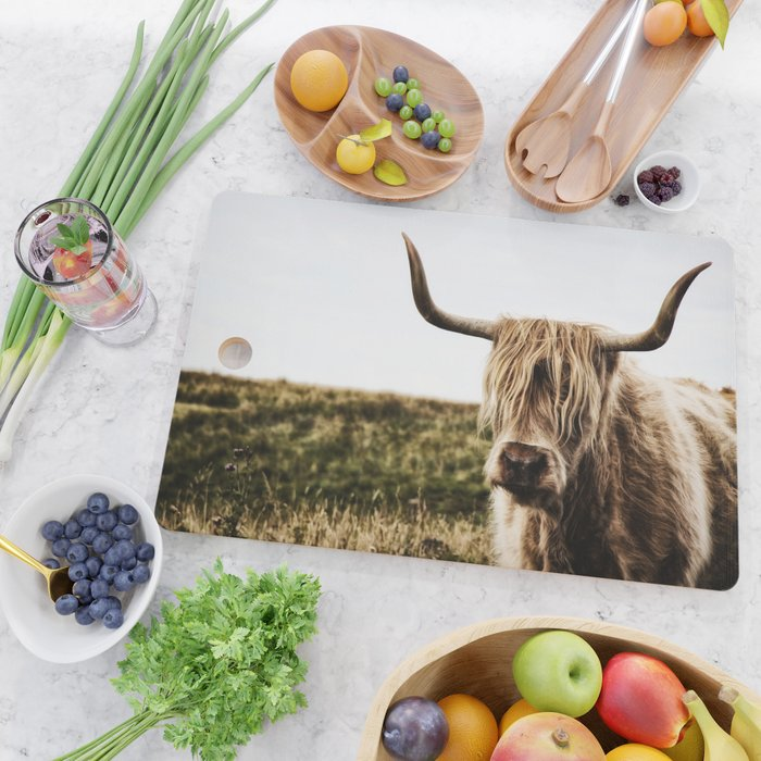 Highland Cow - color Cutting Board