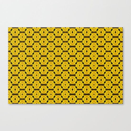 Buttons and Bows - Yellow Canvas Print