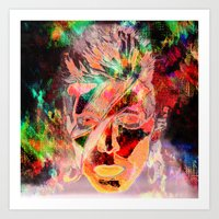 bowie Art Prints featuring Bowie by Joel Mata