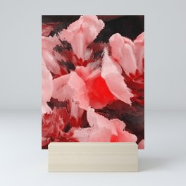 Red and Pink Snapdragons Floral Abstract Mini Art Print