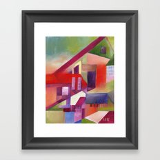 The Village that Grew Up Crooked Framed Art Print