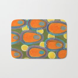 Red Eggs with Blue Fillings Bath Mat