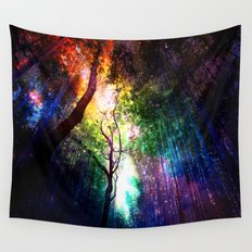 rainbow rain Wall Tapestry