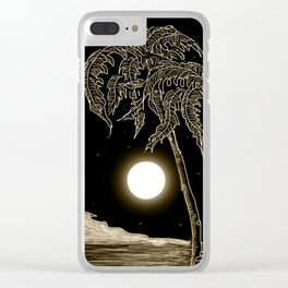 Full moon night Clear iPhone Case