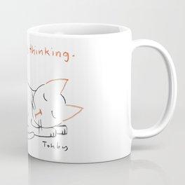 Not Dozing, Thinking. Coffee Mug