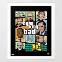 gta Art Prints featuring Breaking Bad GTA HD  by Akyanyme