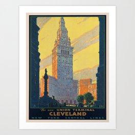 Vintage poster - Cleveland Art Print