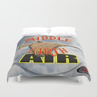 middle earth Duvet Covers featuring darrell merrill nerd artist: middle earth air by Nerd Artist DM