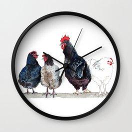 Chicken Squad Wall Clock