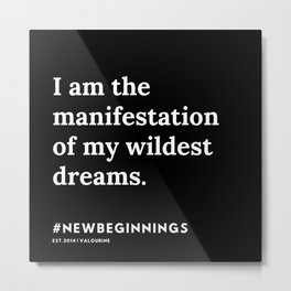 5   | 191124 |  New Year | List Of Mantras | Affirmations For New Beginnings Metal Print