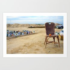 Come and sit  Art Print