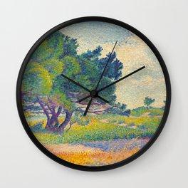 Small House at Saint Clair 1894 Henri-Edmond Cross Neo-Impressionism Pointillism Oil Painting Wall Clock