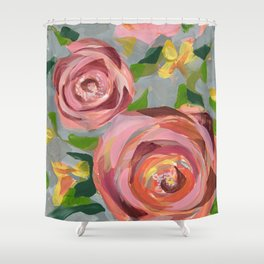 Platinum Rose Shower Curtain