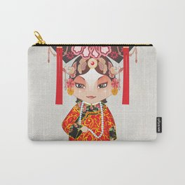 Beijing Opera Character TieJing Princess Carry-All Pouch