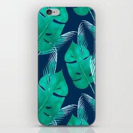TROPICAL PATTERN BANANA LEAVES WATERCOLOR iPhone Skin