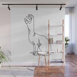 Handy-cat white Wall Mural
