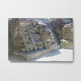 Mask Temple Metal Print