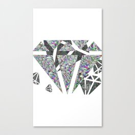 Dead diamonds Canvas Print