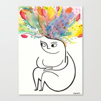 rubyetc Canvas Prints featuring inside and out by rubyetc