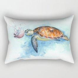 Turtle Noms Rectangular Pillow