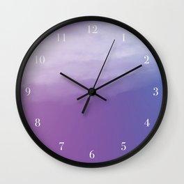 Watercolor (purple) Wall Clock