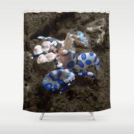 Harlequin Shrimp Shower Curtain