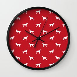 Irish Setter dog silhouette minimal dog breed pattern gifts for dog lover Wall Clock