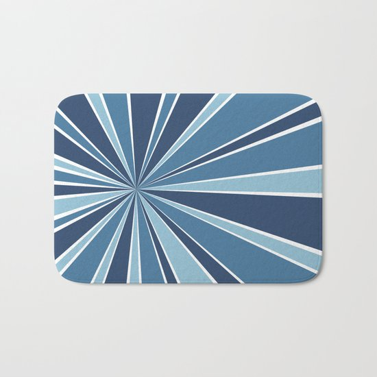 Star Burst Blues Bath Mat