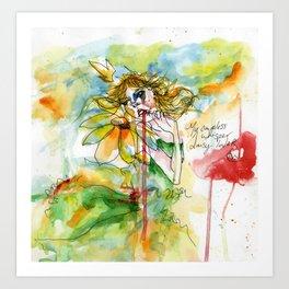 Daisy Lover Art Print