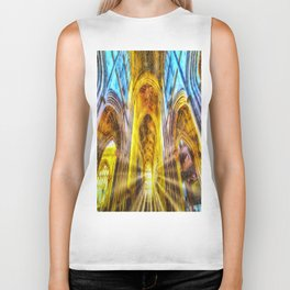Bath Abbey Sun Rays Art Biker Tank