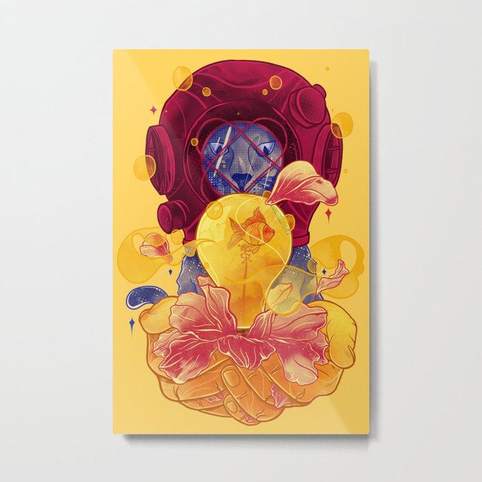 La Lumiere (Yellow) Metal Print
