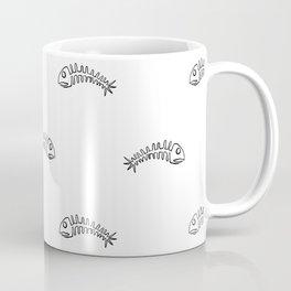 Black Edged Large Fishbones Skeleton Coffee Mug